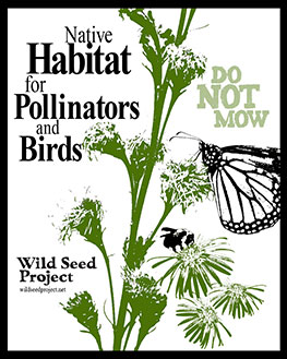 Native Habitat for Pollinators and Birds: Do Not Mow