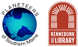 Logos for Planeteers of Southern Maine and Kennebunk Free Library