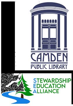 Camden Public Library and Stewardship Educational Alliance Logos